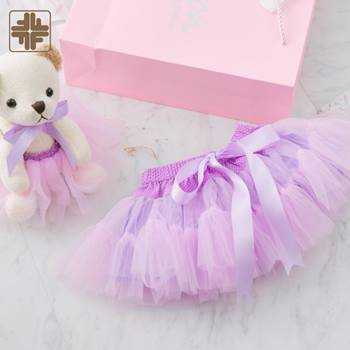 Handmade Colorful Tutu Skirt With Ribbon For Kids