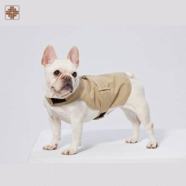 OEM ODM Pets' Organic Cotton Plaid Harness